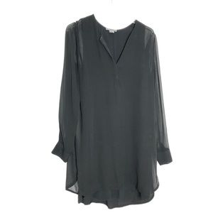 Vince Black Long Sleeve Silk Dress Size 8 2238
